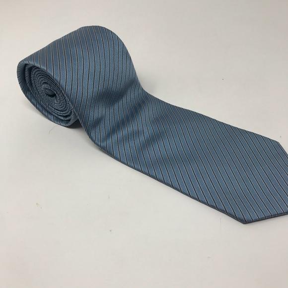 08629986fe9d Hugo Boss Accessories | Silver Blue Tie | Poshmark